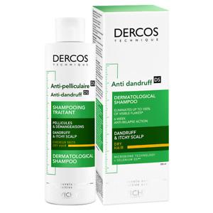 VICHY DERCOS ANTI DANDRUFF SHAMPOO DRY HAIR 200ML - FREE & FAST DELIVERY (0262)