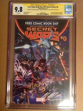 CGC 9.8 SS Free Comic Book Day 2015 Secret Wars #0 signed Hickman Ross & Renaud