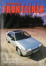 CITROEN Frontlines MAGAZINE 1987 marché britannique brochure BX Cx C15 C25
