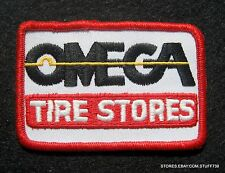 """OMEGA TIRE STORE EMBROIDERED SEW ON PATCH AUTO TRUCK ADVERTING 3 7/8"""" x 2 1/2"""""""