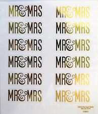 Mr & Mrs Gold Script Wedding Invitations Thanks You Notes PS Foil Stickers
