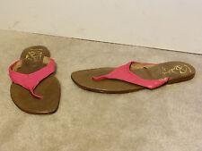 Vintage Bandolinos Leather Sandals Flip Flops Size 9.5 Pink New Nos