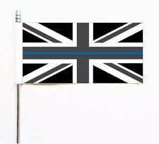 Thin Blue Line United Kingdom UK Pro-Police Awareness Ultimate Table Flag