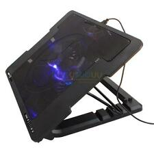 "USB LED Light 2 Fan 9""-17"" Laptop Notebook Cooling Pad Adjustable Stand Cooler"