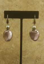 SIMONA COLLINI STAINLESS STEEL MURANO GLASS DANGLE PIERCED EARRINGS QVC SOLD OUT