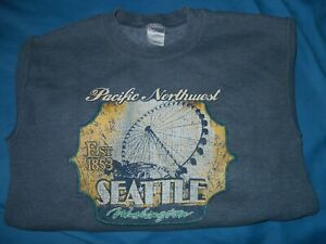 Seattle Washington Pacific Northwest Womens Small Sweatshirt