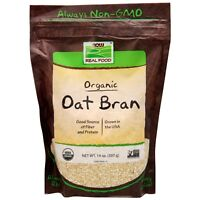 NOW Foods Oat Bran, Organic, 14 oz.