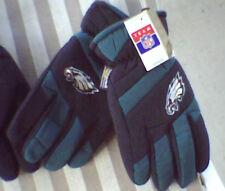 Mens NWT Philadelphia EAGLES Winter Ski Gloves Green Black Thinsulate S/M Medium