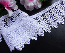 Venise Lace, 3+1/4 inch wide white color 1 yard and 28 inch cut