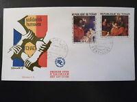 TCHAD  PREMIER JOUR  FDC    TABLEAUX RUBENS , MURILLO      2X1F      1969