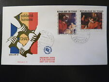 TCHAD  PREMIER JOUR  FDC    TABLEAUX RUBENS , MURILLO      2X1F      1969