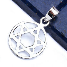 """SOLID STAR OF DAVID .925 Sterling Silver Pendant 1"""""""