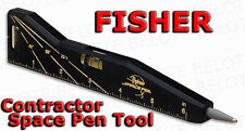 Fisher Contractor Space Pen Tool Magnet Level Ruler CSP