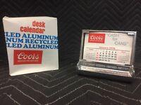 """Vintage Coors Beer Recycled Aluminum Desk Calendar """"Cash For Cans"""" Desk Calendar"""