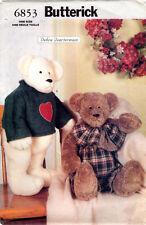 "©2000 UNCUT Butterick Sewing Pattern # 6853 ""Bears"" 23"" w/ Jointed Arms & Legs"