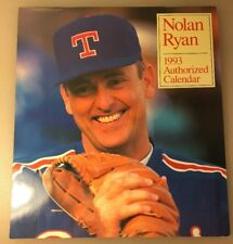 1993 Nolan Ryan Authorized Wall Calendar Texas Rangers Baseball
