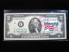 USA $2 13¢ July 4 1976 Interphil Houston TX First Day Cancel Stamp Banknote