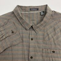 Toad&Co Button Up Shirt Mens XL Brown Plaid Long Sleeve Casual