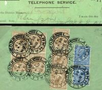 GB SCOTLAND GPO TELEPHONES Receipt 1913 Super *Larkhall 320* CDSs {samwells}K147