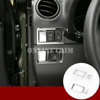 ABS Chrome Fog Light & Rearview Mirror Switch Cover For Suzuki Jimny 2007-2017