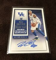 Willie Cauley-Stein Rookie Card Auto 2015 Panini Contenders