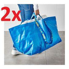 2x IKEA FRAKTA Large Carrier Carry Bag 71L 25kg Shopping Laundry Sport Storage
