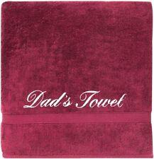 Personalised Embroidered Towel Bath Beach Luxury Customise Name Cotton Fleece