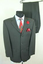 TED BAKER 2 PIECE SUIT 100% WOOL CHARCOAL GREY EUR 46 UK 36R / TROUSERS W 30 L30