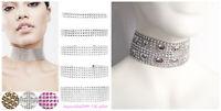 BLING DIAMANTE Acrylic RHINESTON crystal Imitation lace Choker Necklace FREEgift