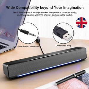 USB Wired Computer Speaker Bass Stereo Subwoofer for PC Laptop Notebook Deskto