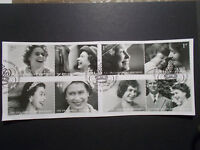 GB 2006 Commemorative Stamps~80th Birthday QE2~Very Fine Used Set~on piece~UK