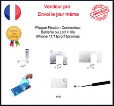 Plaque Fixation Protection + Vis Nappe Batterie Ecran Lcd Iphone 11 11pro promax