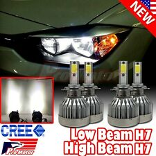H7 Error Free CREE COB LED White 60W 6000 LM DRL High & Low Beam Headlight Bulbs
