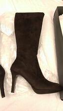 NEW Womens Tahari Espresso Brown Suede-like Connie Knee High Boots 11 M NIB NWB