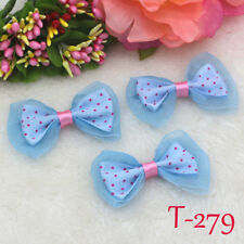 "10-50-100PCS 5CM  2"" Bows rosette Satin Ribbon Flower Wedding Appliques Bowknot"