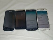 Lot of 4 smart phones galaxy s4 s3 htc sprint 2 working 2 as is see description.