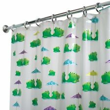 InterDesign Novelty EVA Shower Curtain, 72 x 72-Inch, Frogs , New, Free Shipping