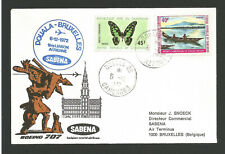 1972 SABENA 1er vol Boeing 707 Douala - Bruxelles timbres sur lettre / TR886