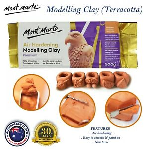 Mont Marte Air Hardening Modelling Clay 500g/2KG Terracotta Art Craft Air Dry