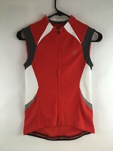 Bontrager Red Active Sport Sleeveless Full Zip Cycling Jersey shirt, Size XS