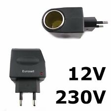 Zigarettenanzünder Adapter AC DC Spannungswandler 230V 12V 500mAh Netzadapter