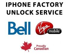 CANADA VIRGIN  FACTORY UNLOCK SERVICE IPHONE 4s 5 5c 5s 6 6s 6+ 6s+ SE 7 7+ 8 10