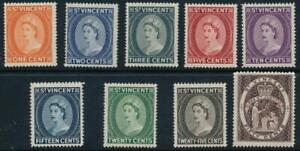 St. Vincent 1964 SG 212-220 MNH