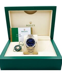 BRAND NEW Rolex 116000 Oyster Perpetual 36 Blue Dial Stainless Steel Box Papers
