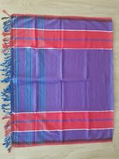 Traditional East African Garment Kikoy 100/% Cotton Kikoi Sarong Orange with light Purple border