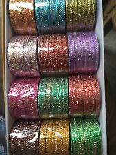 "Plus Size Bangles Size 4X, 3"" Wide With Gold Flakes Shiny Bollywood Dance 6 Dzs"