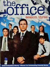 THE OFFICE - STEVE CARELL - SEASON THREE - (4) DVD BOX SET - STILL SEALED