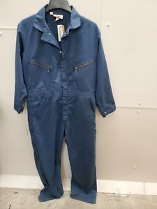 Dickies Coveralls Chest 44 Length Medium Blue 65% Polyester 35% Cotton R4D