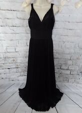 "Coast lined maxi dress 10 black pleated bust 34"" party cruise dramatic"