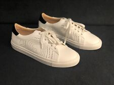 New Women's Size 7.5 - Kate Spade - Perforated Spade - White Leather Sneaker